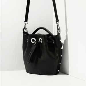 massimo dutti mini black bucket bag